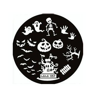 Stamping Schablone Stempel Halloween Kürbis Geist Skelett héhé (Skelett Kürbis Schablone)
