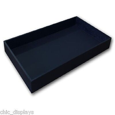 2 High Wooden Jewelry Tray Leatherette Covered Display Tray Jewelry Wooden Tray
