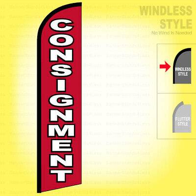 Consignment - Windless Swooper Flag 11.5 Ft Feather Banner Sign Rf