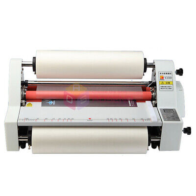 New 110v220v 13 V350 Laminating Machine Four Rollers Cold Hot Roll Laminator