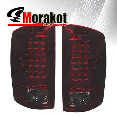 Dodge Ram 1500 07-08 / Ram 2500&3500 07-09 Rear Brake LED Tail Lights Red Smoke