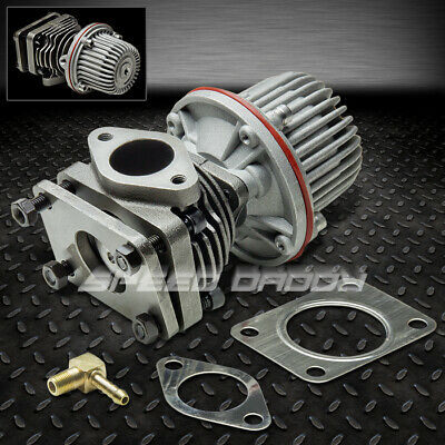 40MM 4-BOLT EXTERNAL TURBO WASTEGATE BYPASS EXHAUST W/10PSI SPRING+FLANGE -
