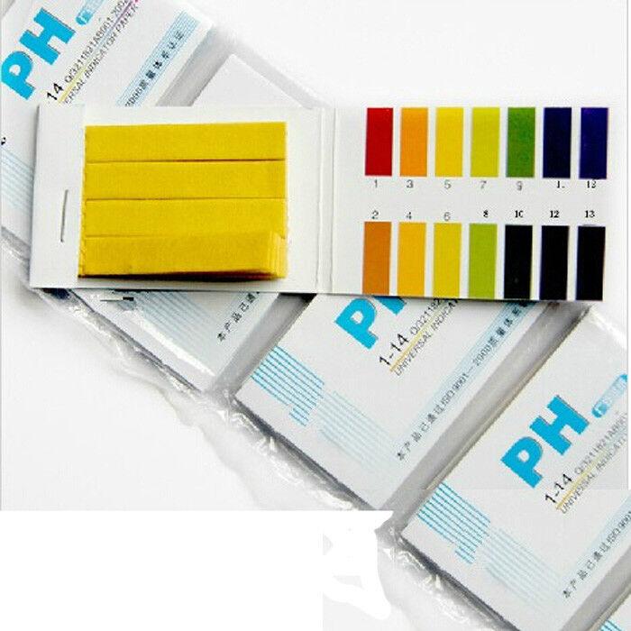 160 Litmus Paper Test Strips Alkaline Acid pH Indicator Testing Kit USA