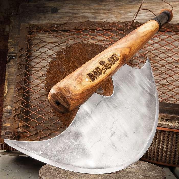 """33"""" Bad Axe Tactical Baseball Bat Zombie Apocalypse Battle Outdoor Steel Wood"""