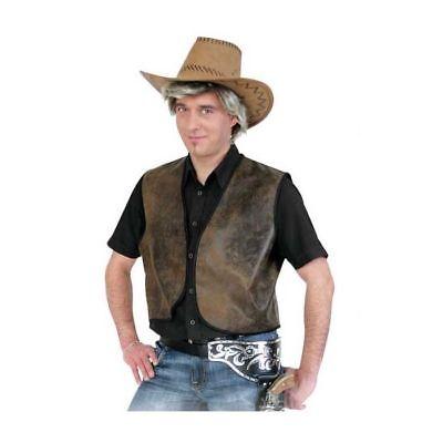 Herren-Weste Cowboy Buck, braun Cowboykostüm Westernkostüm