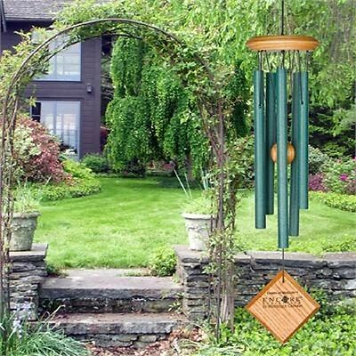 "Woodstock CHIMES OF MERCURY 14"" VERDIGRIS WIND CHIMES, 5 Tubes approx. 6.5"" Long"