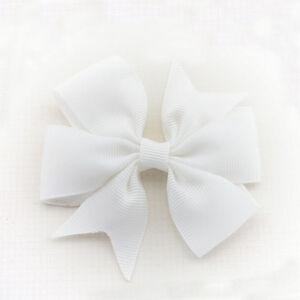 Boutique Girl Baby Big 8.8cm Hair Bow Clips Grosgrain Ribbon Hair Accessories