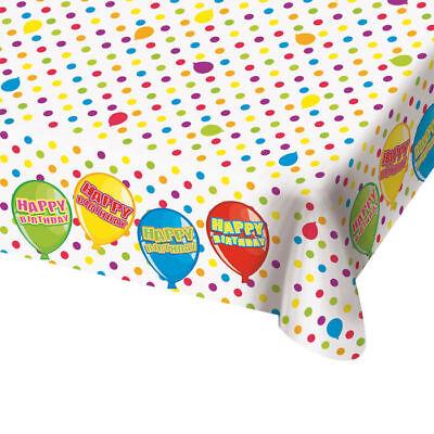 NEU Tischdecke Ballon Geburtstag, 130 x 180 cm Tischtuch Party Dekoration   ()