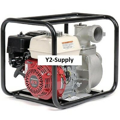 New Watertrash Pump 3 Intakeoutlet 6.5hp Honda Engine