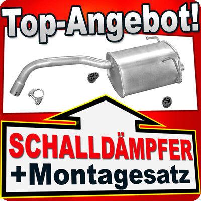 Endschalldämpfer FIAT 500 500C PANDA II FORD KA 1.1 1.2 2003-2012 Auspuff TTJ