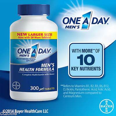 One A Day Mens Multivitamin 300 Tablets Complete Vitamin Lycopene Bayer Health