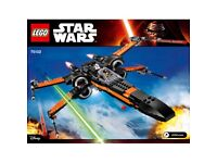 Lego 75102 Poe Cameron x wing new