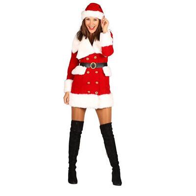 Nikolaus Weihnachtsfrau Kostüm für Damen sexy Kleid mehrteilig