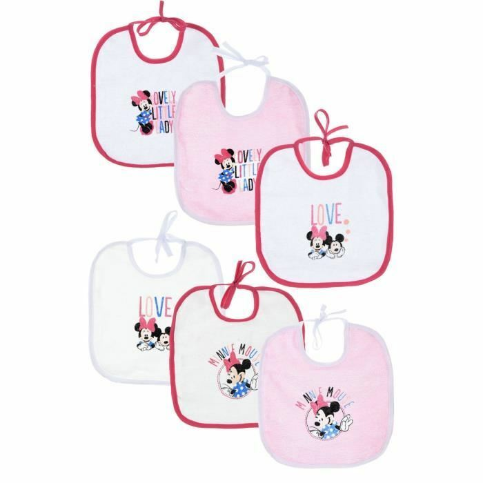 Lot de 6 bavoirs MINNIE