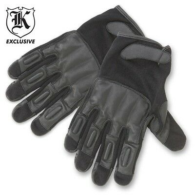 Law Enforcement Leather Sap Gloves  Combat Ready Self Defence Gloves