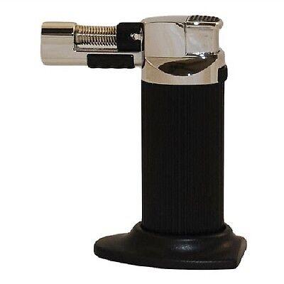 - Multi-Purpose Refillable Butane Torch/Soft Flame Cigar Lighter-Black