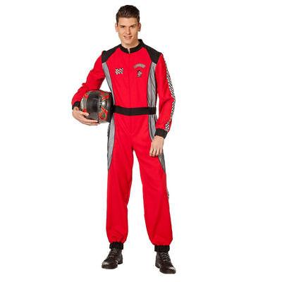 Rennfahrer Kostüm für Herren in rot ideale Verkleidung für - Rennfahrer Kostüm Für Herren