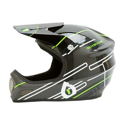 New SixSixOne 661 Evolution Carbon Full Face Helmet Black / Lime Size XL MTB DH 661 Full Face Helmet