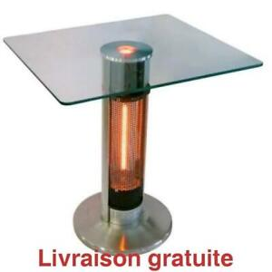 Chauffe terrasse style bistro, Table with infrared tower and Led light