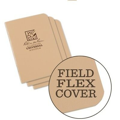 Rite In The Rain 971tfx-m All-weather Universal Stapled Notebooks Tan