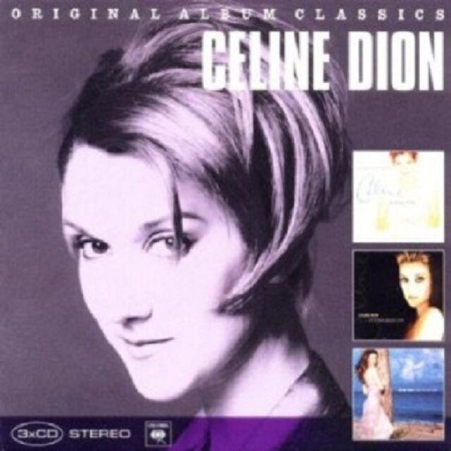 CÉLINE DION-ORIGINAL ALBUM CLASSICS (FALLING,TALK ABOUT LOVE,NEW DAY) 3 CD NEU