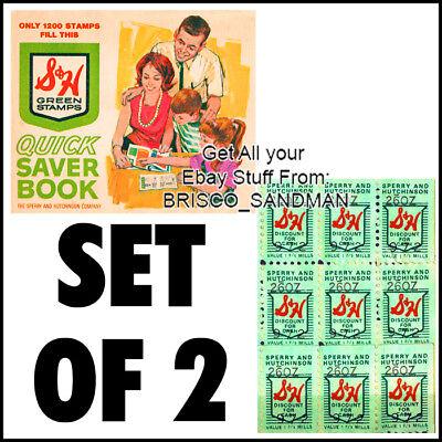 Stamp Refrigerator Magnet - Fridge Fun Refrigerator Magnet S&H GREEN STAMPS Set of 2 Vintage Retro Nostalgia