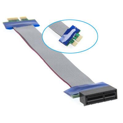 Q28 20cm PCI-E 1x Riser Karte Extender Adapter Verlängerung Kabel Flachbandkabel