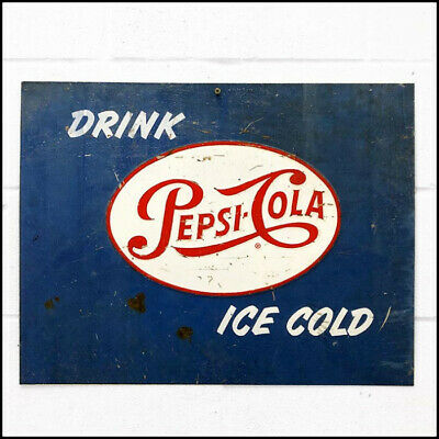 Pepsi Cola Vintage Metal Wall Sign