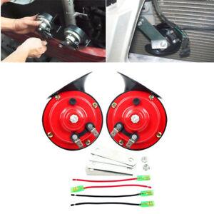 1 Pair 12V 110DB Loud Dual-tone Electric Snail Air Horn Siren for Car Trucks