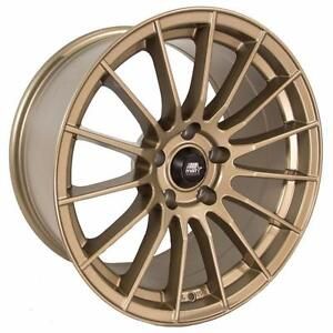 MT17 Matte Bronze or White, 17x9 +15 5x114.3 in stock special