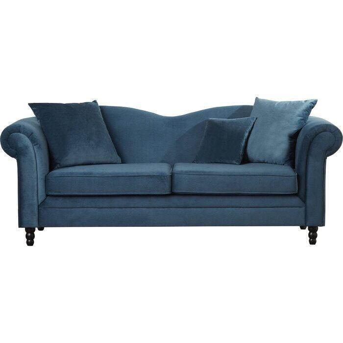 3 Seater Sofa Velvet Petrol Blue Teal Brand New In Stoke Newington
