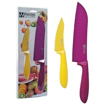 Whetstone 2 Piece Kitchen Knife Set - Paring and Santoku - Stainless Steel