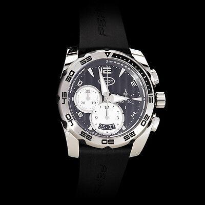 Parmigiani Fleurier Pershing 002 Automatic Chronograph. Black Dial