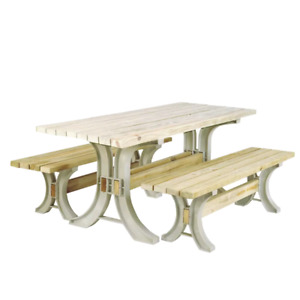 New August Grove Pyramidale 3 Piece Picnic Table Kit