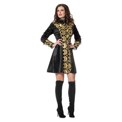 SALE NEU Damen-Kostüm Luxusjacke, schwarz-gold Garde Mantel Piratin