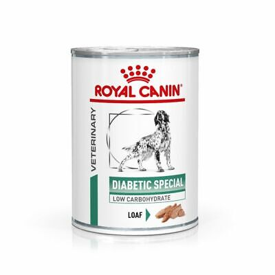 Royal Canin Canine Adult Diabetic Veterinary Diet Wet Dog Cans - 12 x 410g