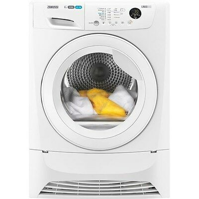 Zanussi ZDC8203W 8kg 'B' Rated Freestanding Condenser Dryer in White