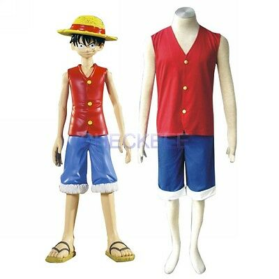 Anime One Piece Luffy Halloween Cosplay Costume  ](One Piece Luffy Halloween Costume)