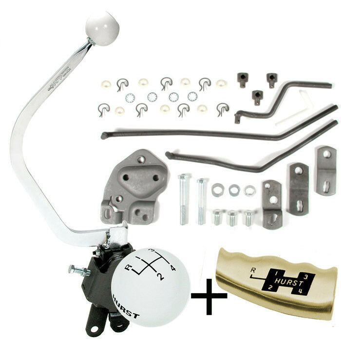 HURST 4 Speed Shifter kit 1955 - 1957 Chevy Bench Seat LATE