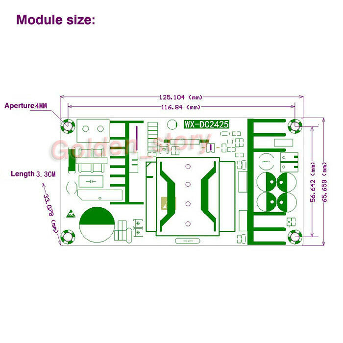 Details about AC220V 230V 240V to DC 36V 7A 250W AC-DC Converter Switching  Power Supply Module