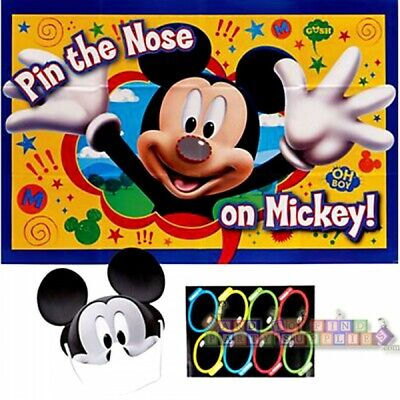 MICKEY MOUSE Fun & Friends PARTY GAME POSTER ~ Birthday Supplies Activity Room - Disney Halloween Party Decorations