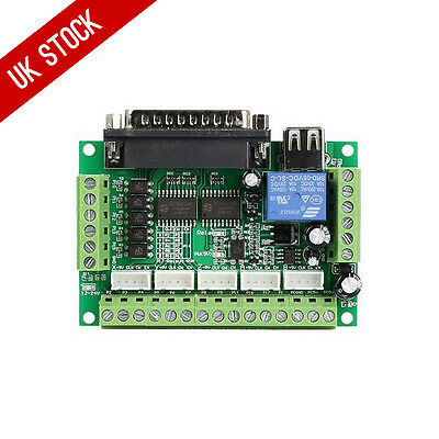5 Axis MACH3 CNC Breakout Board Interface for Stepper Motor Driver