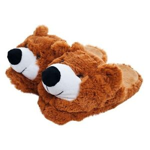 Kids-Cuddlee-Slippers-Teddy-Bear-Fits-Most-Ages-9-12