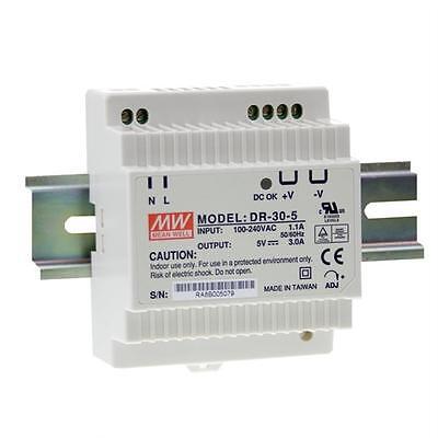 Hutschienen Netzteil 30W 15V 2A ; MeanWell, DR-30-15 ; Hutschienennetzteil