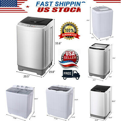 ZOKOP Full/Semi-automatic Gray Cover Washing Machine Portabl