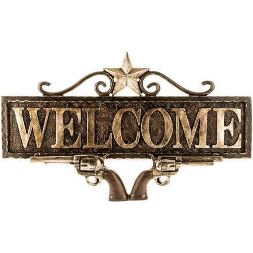 Welcome Revolvers Wall Decor Western Guns
