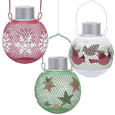 Holiday Solar Seedball Decorative Wild Bird Feeder 3 Pack - Great Gift