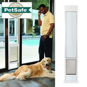 "OB PETSAFE SLIDING GLASS PET DOOR PPA11-13135 205855904 76 13/16"" to 81-Inch WHITE MEDIUM SIZED DOGS CATS OPEN BOX"