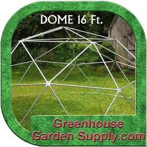 Geodesic Dome on yurt greenhouse