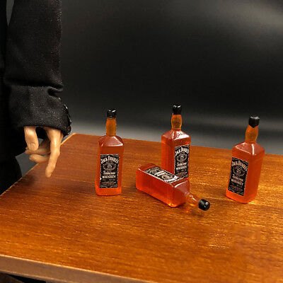 4pcs 1:6th Scene bar table mini accessories Jack Daniels whiskey Bottle Model , used for sale  China